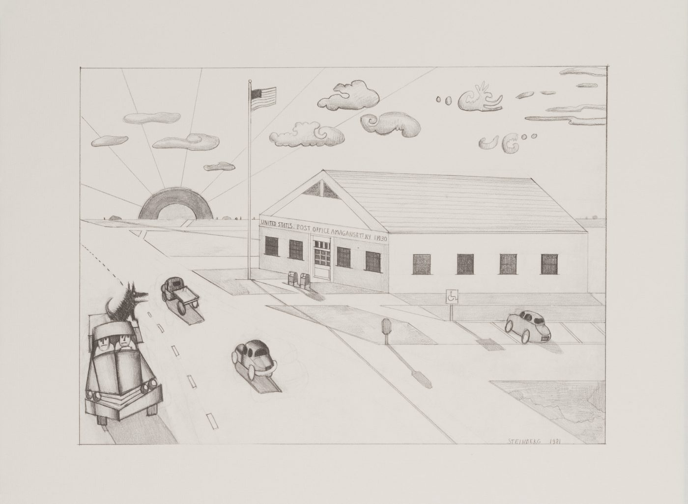 Saul Steinberg, Amagansett, post office