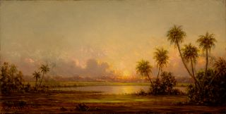 Martin Johnson Heade (American, 1819–1904), Florida Sunset, with Palm Trees, ca. 1895–1904.