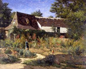 William Lamb Picknell (American, 1853–1897), A French Garden, Provence, 1878.