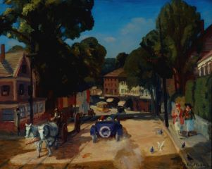 John Sloan (American, 1871–1951), Hill, Main Street, Gloucester, ca. 1916.